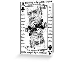 Charles Bukowski. Greeting Card