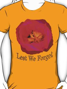 Lest We Forget, Poppy T-Shirt