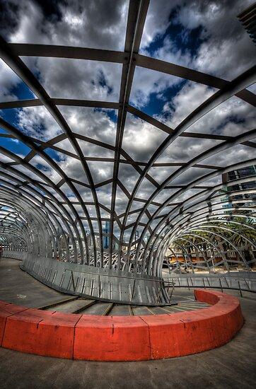 Web Bridge Melbourne II by Michael Sanders