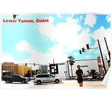 Lower Tumon, Guam postcard Poster