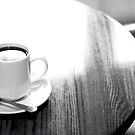 If you'll excuse me a minute... I'm going to have a cup of coffee... ? by Gregoria  Gregoriou Crowe