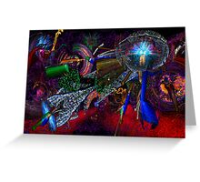 Oregon Zoo Lights Galaxy 2013 Greeting Card