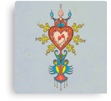 Heart Rules Canvas Print