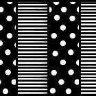 Black And White Spots and stripes by kasseggs