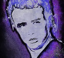 Grungy Jimmy Dean in purple by JillySB