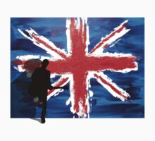 British Flag & Guitarist (flag in the background) by artguy24