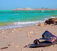 flip-flops on the beach by Kirk D. Belmont Photography
