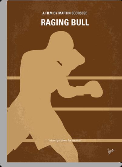 No174 My Raging Bull minimal movie poster by Chungkong