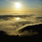 Pacific sunset, California by Claudio Del Luongo