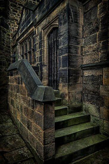 Otley All Saints Parish Church Choir Vestry Door (HDR) by Tim Waters