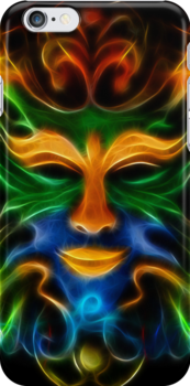 Abstract Face iPhone Case by Pamela Phelps