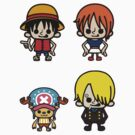 One Piece - Strawhat Pirates (Part I) [Sticker Sheet] by Sandy W