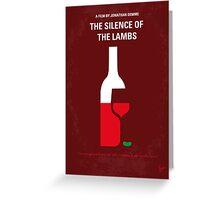 No078 My Silence of the lamb minimal movie poster Greeting Card