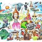 Thai Letters indy illustration by jatujeep