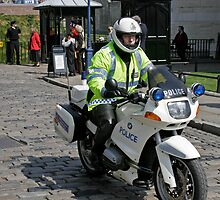 Police Motor Bike, BMW, outside the Tower of London by Keith Larby
