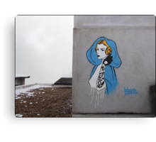Princess Leia Graffiti Canvas Print
