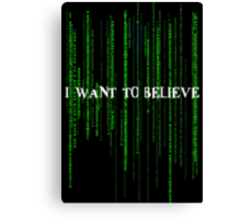 Who to believe? Canvas Print