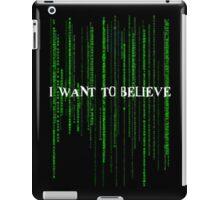 Who to believe? iPad Case/Skin