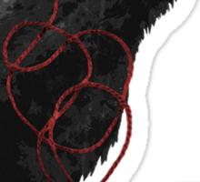 weaving hearts Sticker
