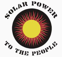 """Earth Day """"Solar Power To The People"""" Kids Clothes"""
