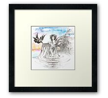"""""""MARCH"""" from """"Calender Sheets"""" Framed Print"""