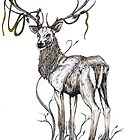 The Forest Stag by kirstenmcnee