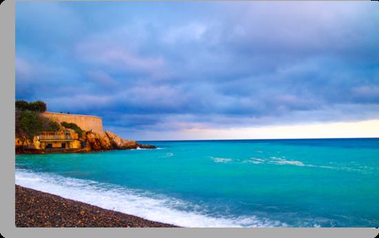 Nice Mediterranean Coast by Joel Brown