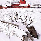 Winter Barn 3 by David Kocherhans