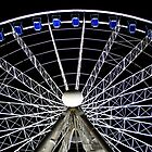 Ferris Wheel Duesseldorf at Night by Heike Richter