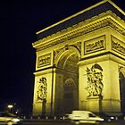 Arc de Triomphe at Night by Rachel Nacilla