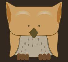 So cute Owl in orange by jazzydevil