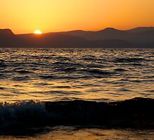 Sunset on the Sea of Galilee by Jeffery Borchert