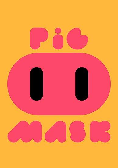 Pig Mask Logo by Studio Momo ╰༼ ಠ益ಠ ༽