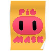 Pig Mask Logo Poster