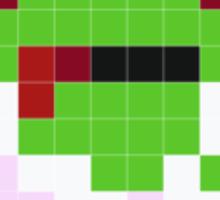 Pixel Art Zombie Sticker