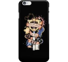 Courage Is The Key iPhone Case/Skin