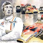 Jochen Rindt Golden Leaf Team Lotus Lotus 49b Lotus 49c by Yuriy Shevchuk