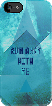Run Away With Me || Blue Hipster Case by Chelseaa Benwell