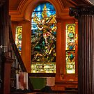 Stained Glass Inside Church by dbvirago