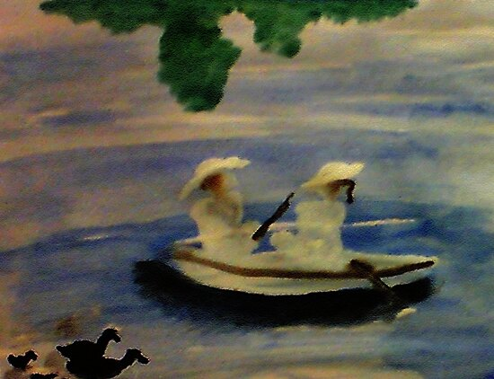 On the lake , watercolor by Anna  Lewis