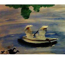 On the lake , watercolor Photographic Print