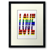 Love Rainbow Hearts Framed Print