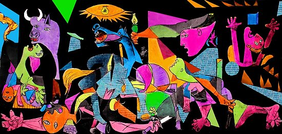 technicolor guernica by Loui  Jover