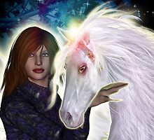 Angel and Unicorn by Kristie Theobald