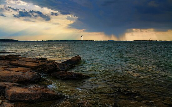 Rain Across The Lake by Carolyn  Fletcher