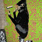 Banksy Chimp by Respire
