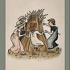 Greetings-Kate Greenaway-Autumn Children by Yesteryears