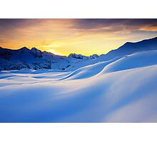 Sunset in the mountains in the Alps Photographic Print