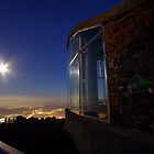 Moonrise from Mt. Wellington by Julien Johnston