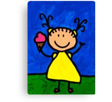 Happi Arte 3 - Little Girl Ice Cream Cone Art Canvas Print